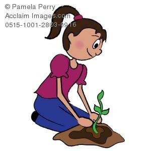 clip art free library Seedling clipart kid. Clip art illustration of.