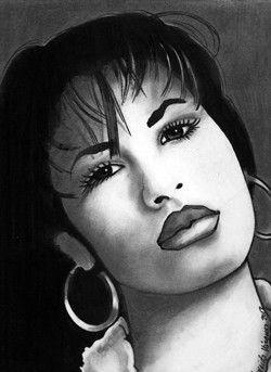 clip royalty free download Selena drawing. Quintanilla by nereida vazquez.