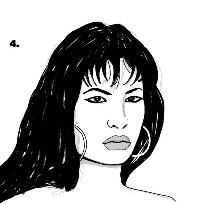 vector black and white download Selena drawing. How to draw in.