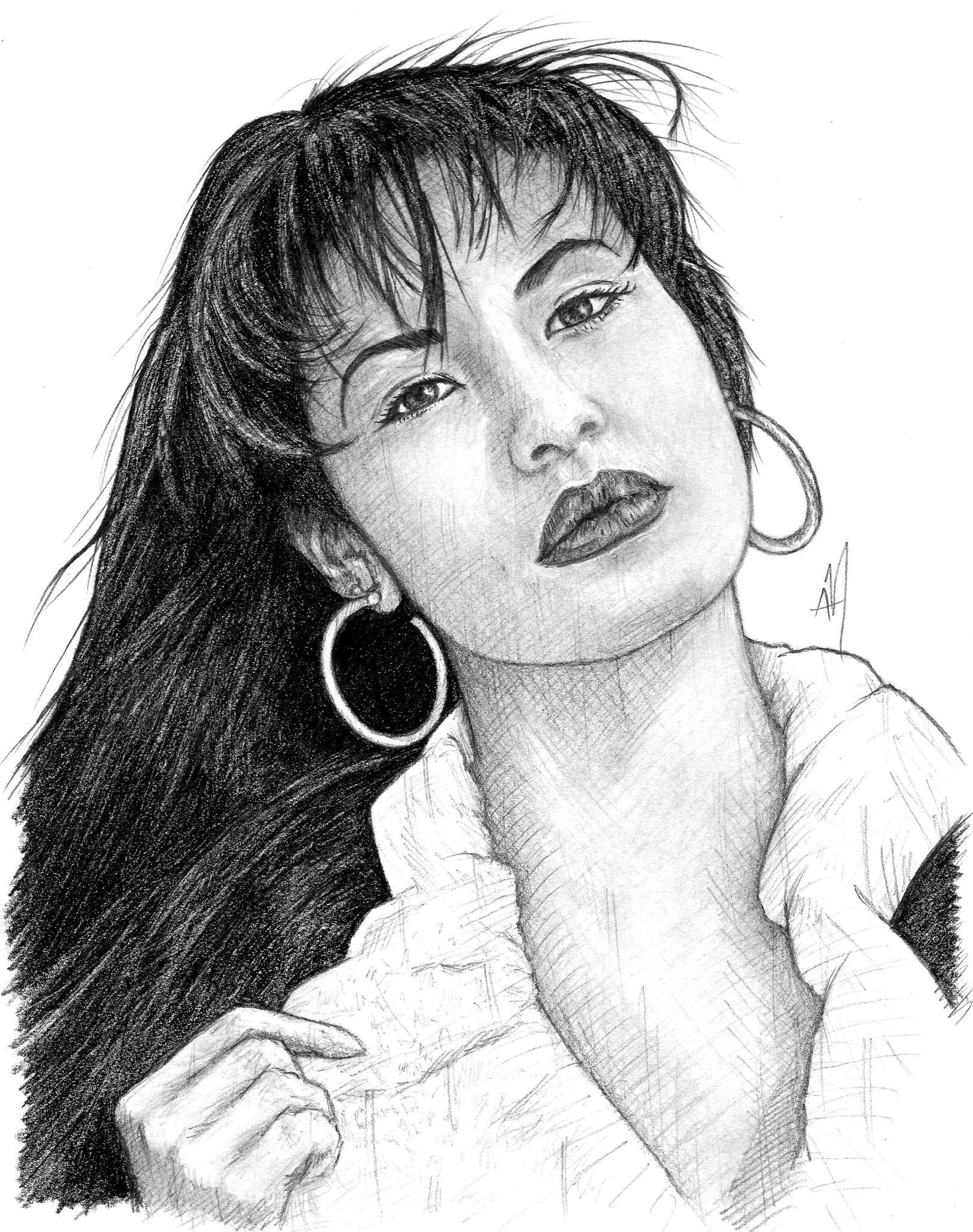 vector black and white stock Pin on quintanilla . Selena drawing.