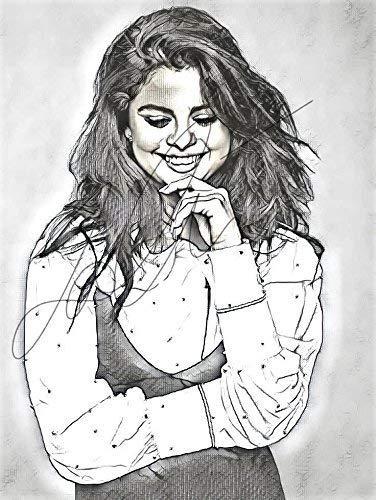 clipart freeuse download Amazon com gomez sketch. Selena drawing.