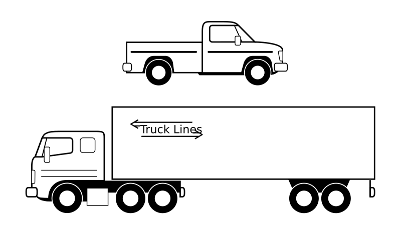 image free stock Semi clipart. Pickup et camion noirs.