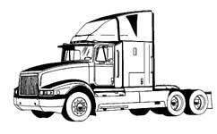 black and white download Semi clipart. Free tractor truck cliparts.