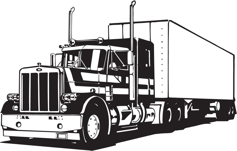 black and white download Free tractor truck cliparts. Semi clipart.