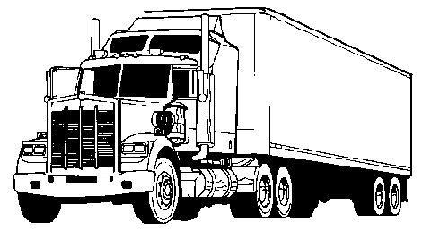 graphic stock Truck clip art black. Semi clipart.