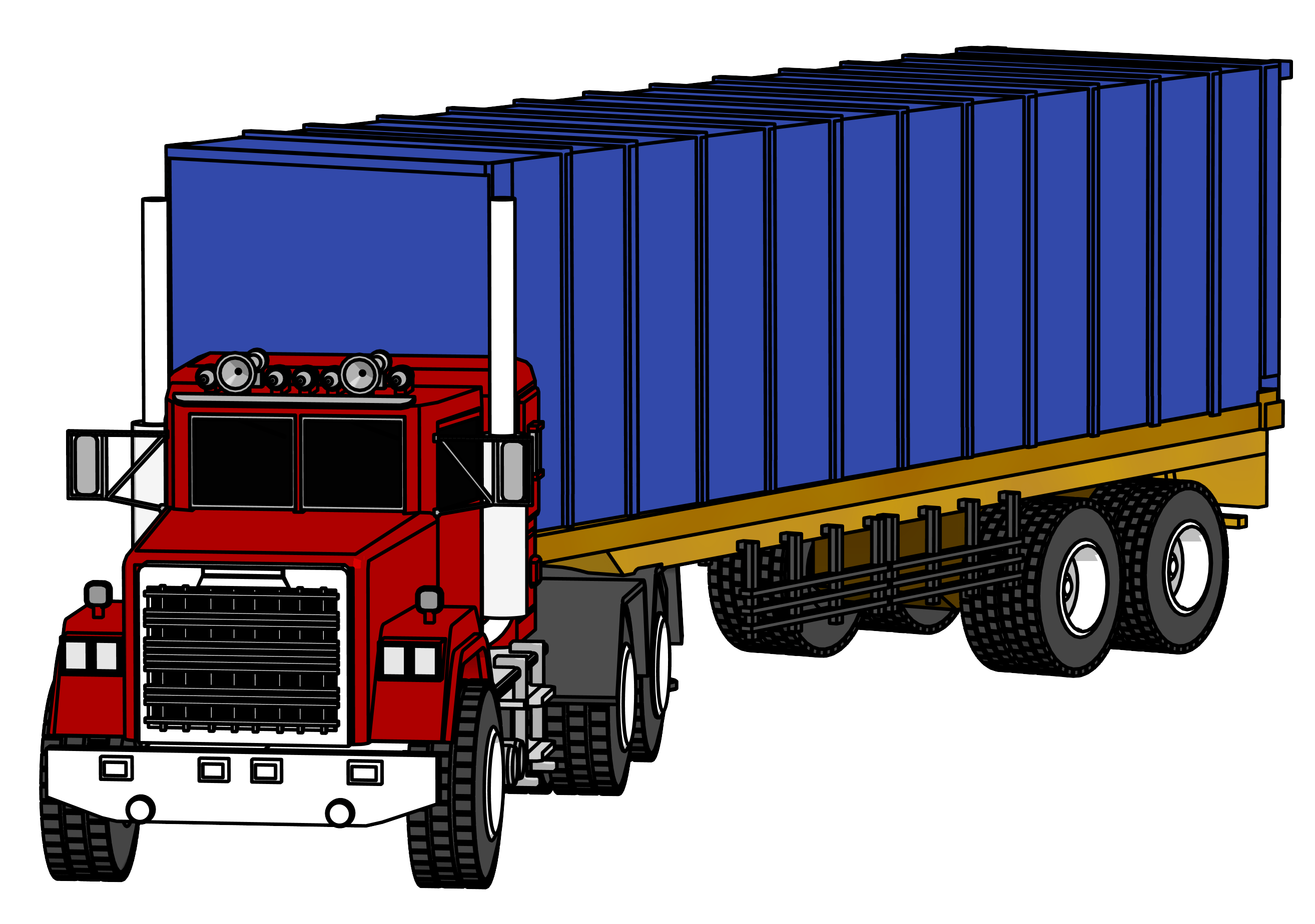 banner freeuse library semi truck clipart #68056227
