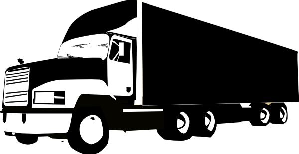 clipart stock Truck And Trailer Silhouette at GetDrawings