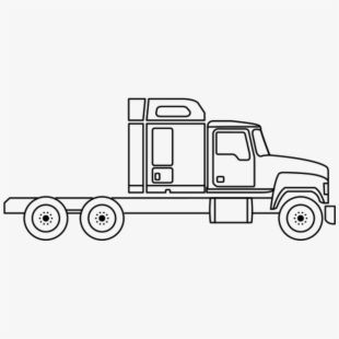 vector black and white Semi clipart trucking company. Truck freight