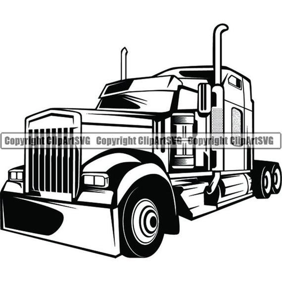 png library download Truck driver trucker big. Semi clipart trucking company