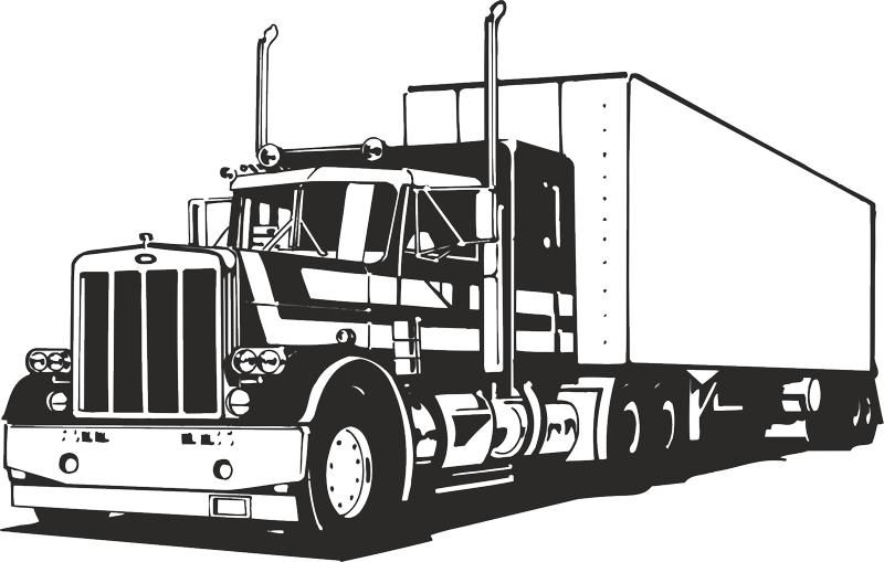 svg library library Semi clipart trucking company. Truck silhouette vector free