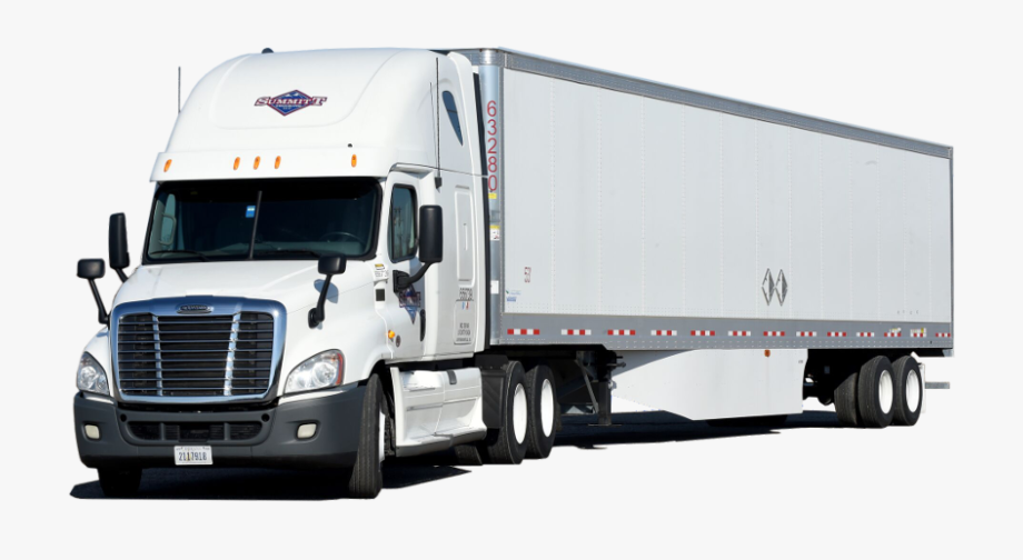 vector black and white Truck freight . Semi clipart trucking company