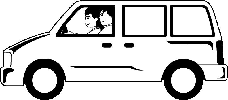 image black and white Free White Van Cliparts