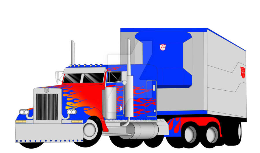 png freeuse download Trailer drawing freight truck.  peterbilt vector for