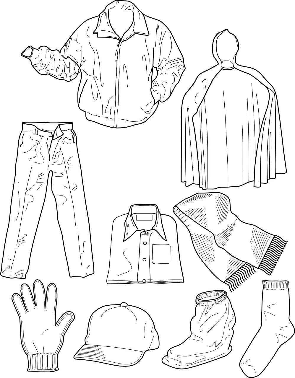 banner stock Senses clipart coloring page. Baby clothes pages png