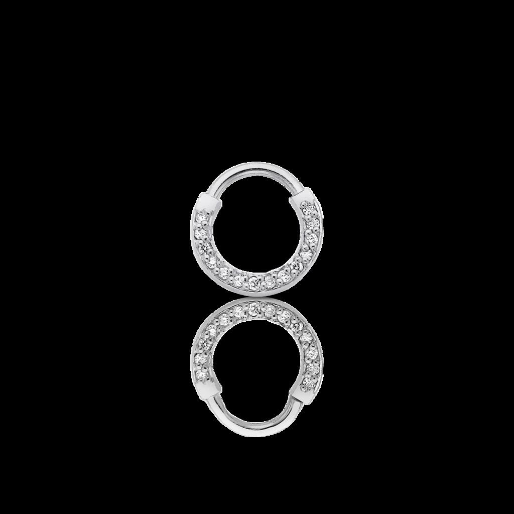 picture free stock Diamond Septum Ring Pierced