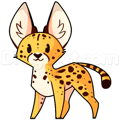 svg transparent library Serval drawing. How to draw a