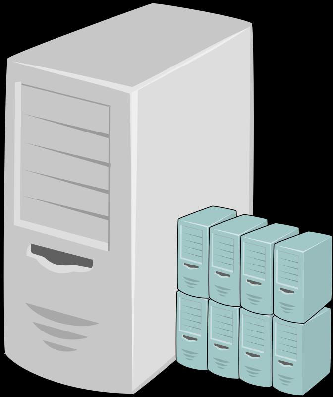 clip art black and white stock Virtual . Server clipart
