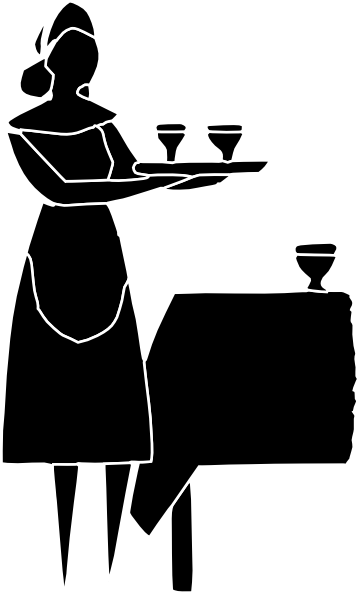 clip library library Restaurant Server Icon Clip Art at Clker