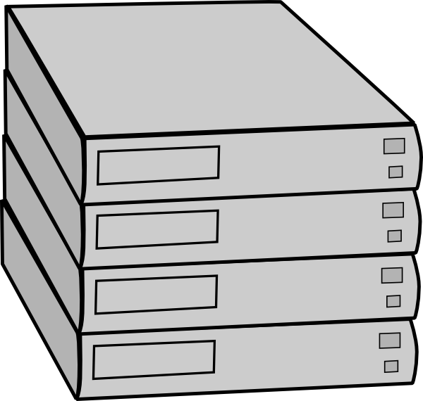 clip freeuse download Server clipart black and white. Stacked servers without rack