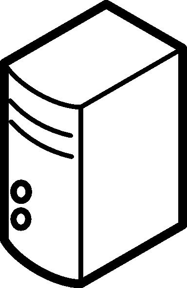 png transparent Server Outline Clip Art at Clker