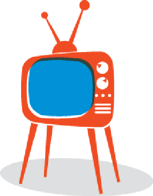 picture freeuse download Retro tv the arts. Set clipart