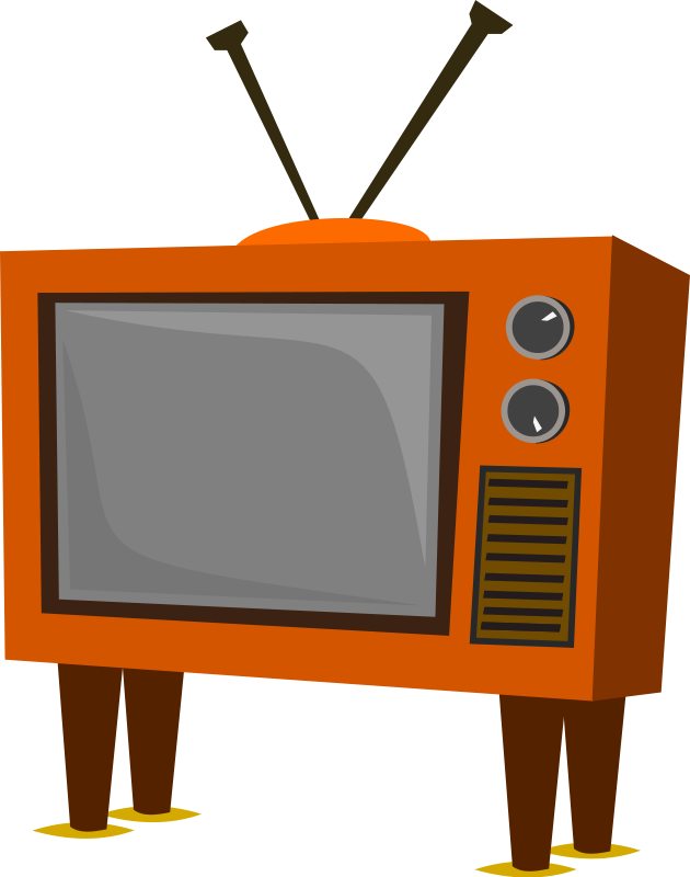 vector black and white Television . Set clipart.