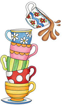 svg free Set clipart. Tea colorful coffee cup.