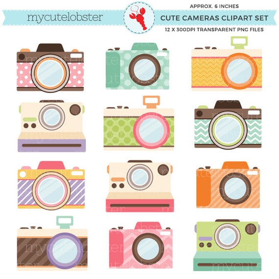 image transparent download Set clipart camera. Cute cameras clip art