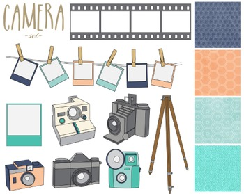 clip art library stock Paper papers . Set clipart camera