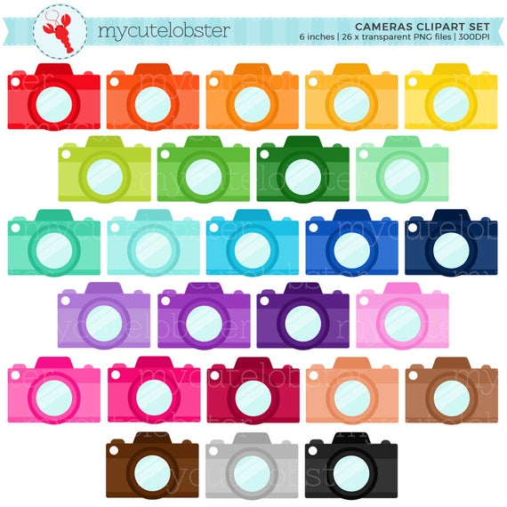 picture free Rainbow cameras clip art. Set clipart camera