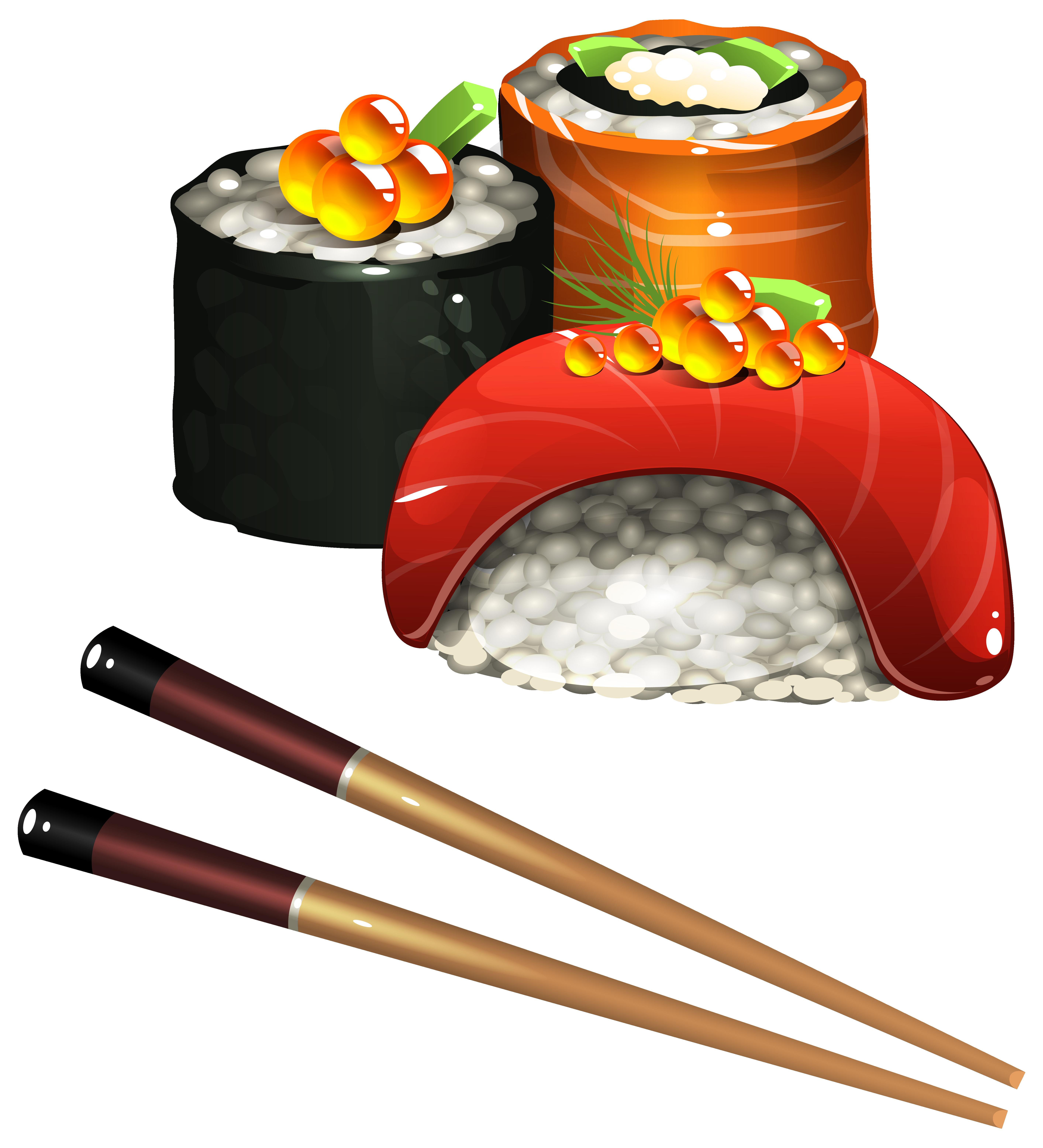 image transparent stock Sushi Set PNG Clipart Image