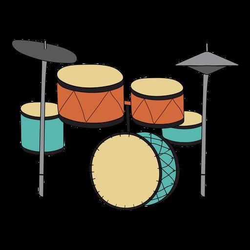 image freeuse download Drum set musical instrument doodle