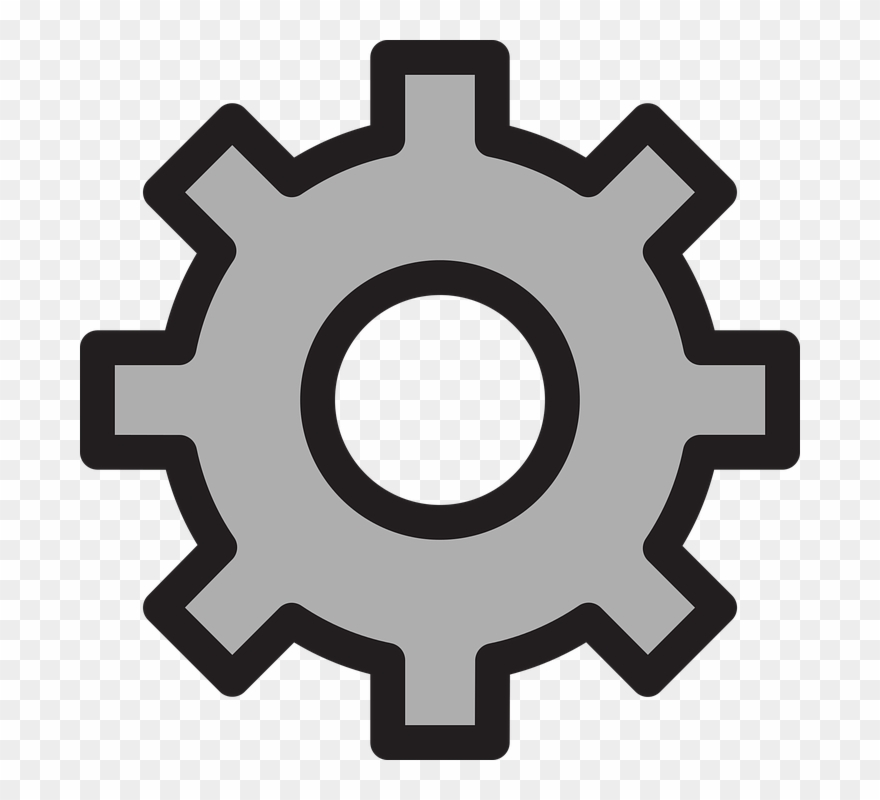 clip art library library Many gear outline png. Setting clipart
