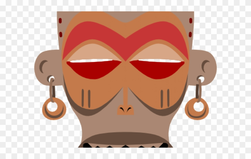 clip freeuse Setting clipart village. African mask free png
