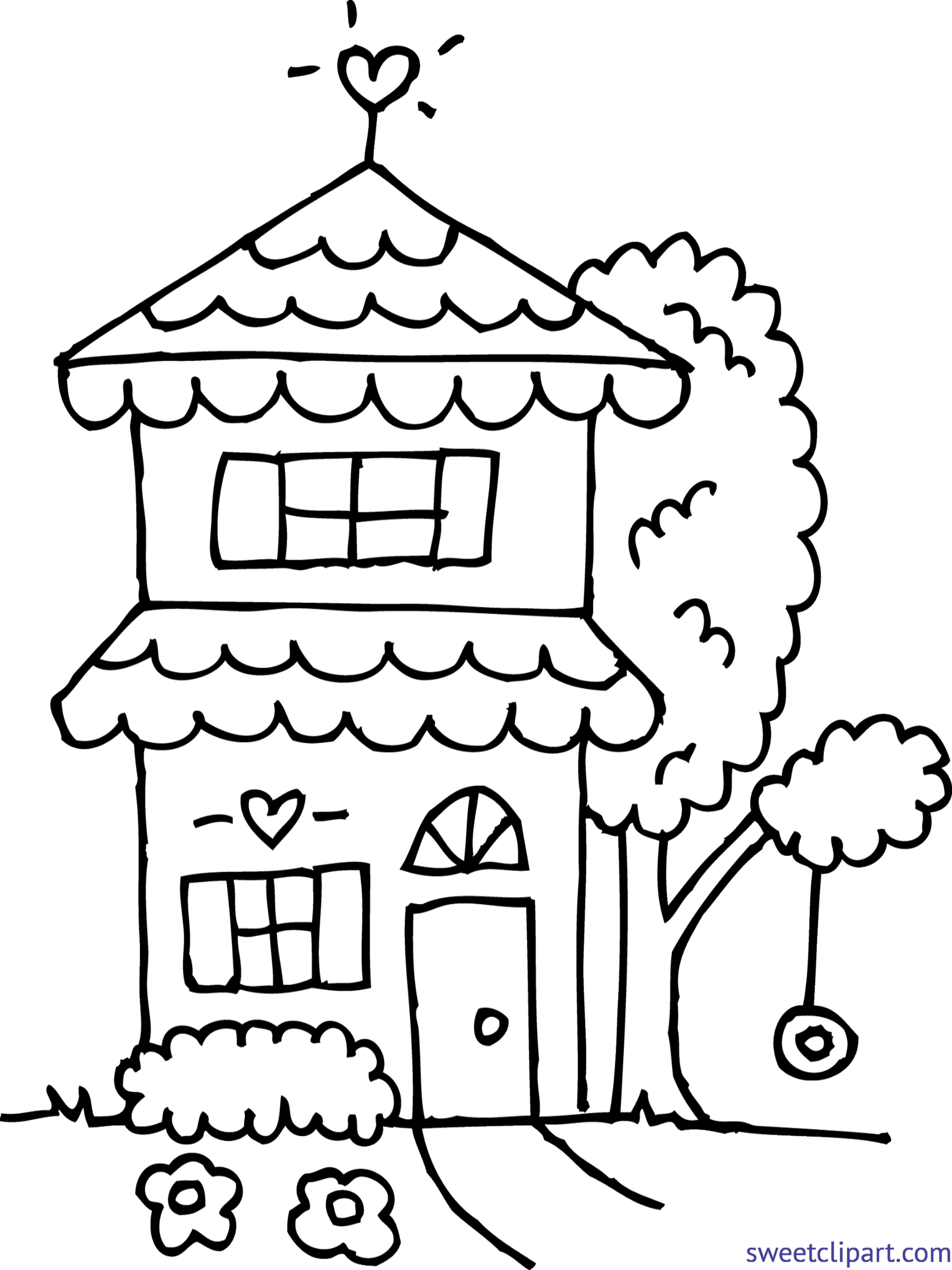clipart freeuse stock Setting clipart cute home. Drawing printables house