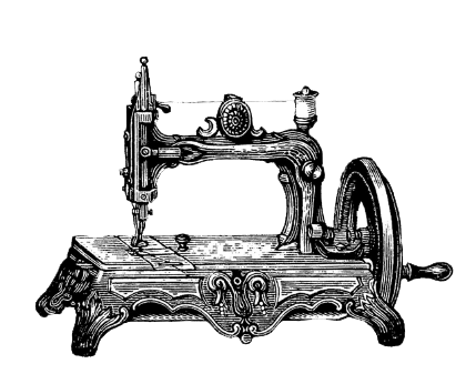 png transparent Vintage png hd transparent. Sewing machine clipart black and white
