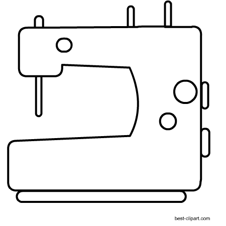 png freeuse library Free craft clip art. Sewing machine clipart black and white