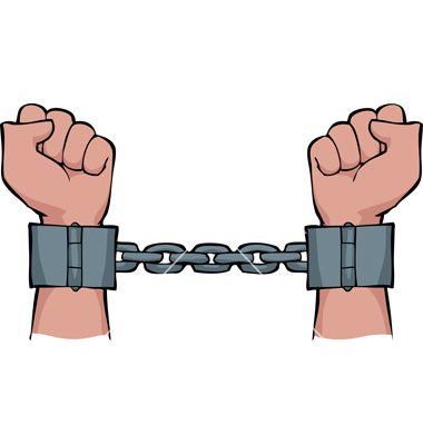 clip art transparent library On his hands vector. Shackles drawing