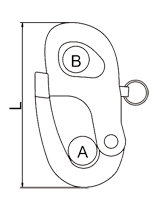vector library Shackles drawing. Snap shackle with fixed