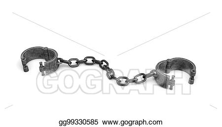 library D rendering of old. Shackles drawing