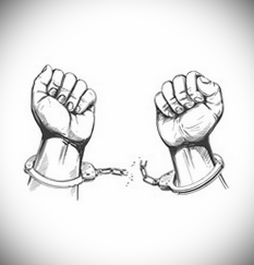 vector royalty free stock Shackles drawing. Photo example tattoo handcuffs