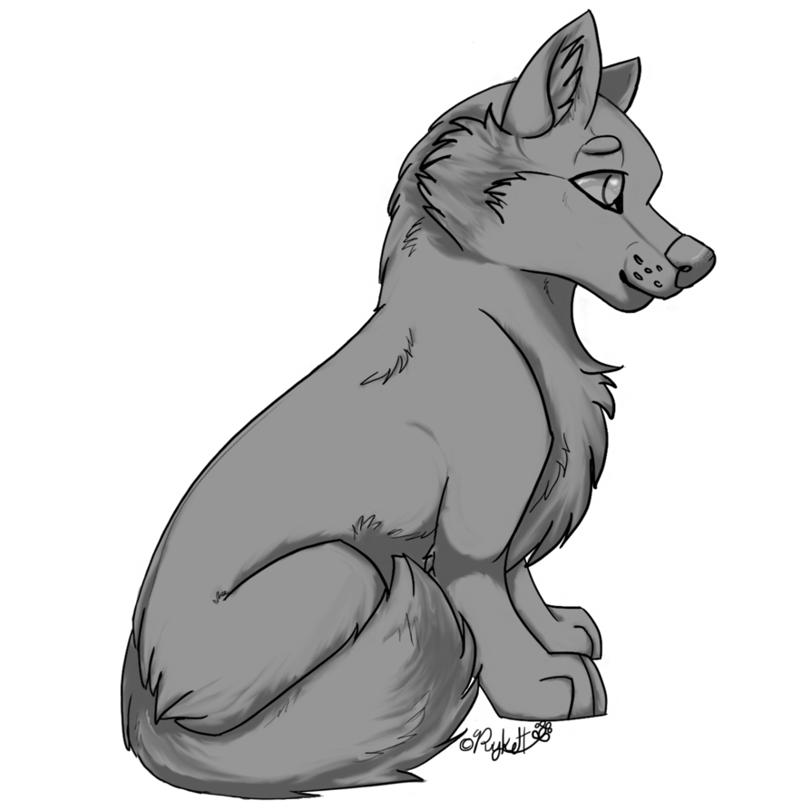 png library Image wolf pup free. Shaded drawing