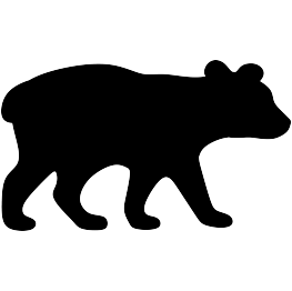 free download Black bear cub clipart. And silhouette at getdrawings