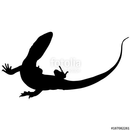 image free Shadow vector art. Monitor lizard silhouette graphics.