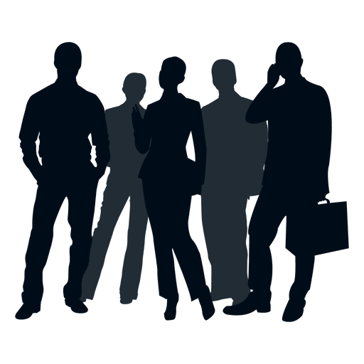 image library library Business people group silhouette