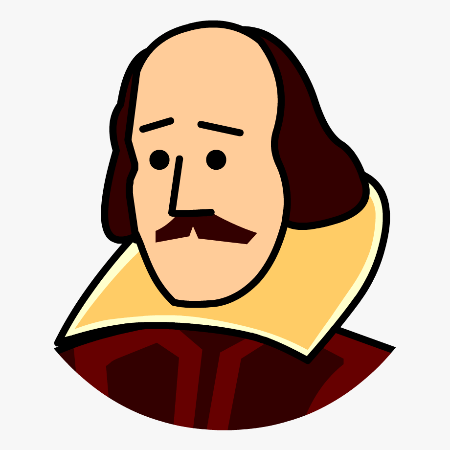 clip art freeuse library  feb png free. Shakespeare clipart.