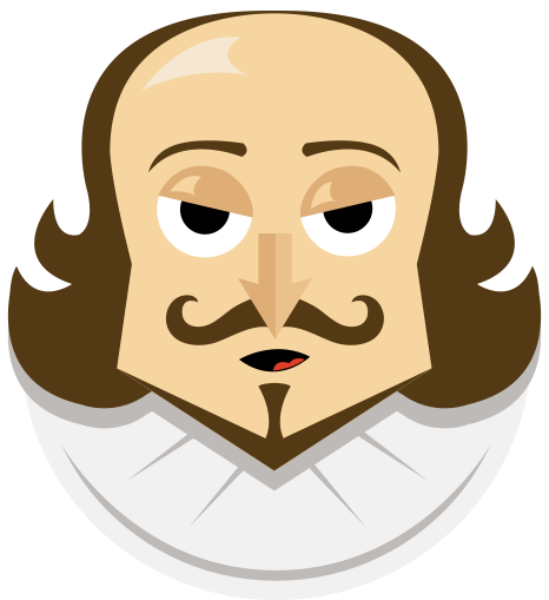 jpg black and white stock Transparent free on. Shakespeare clipart.