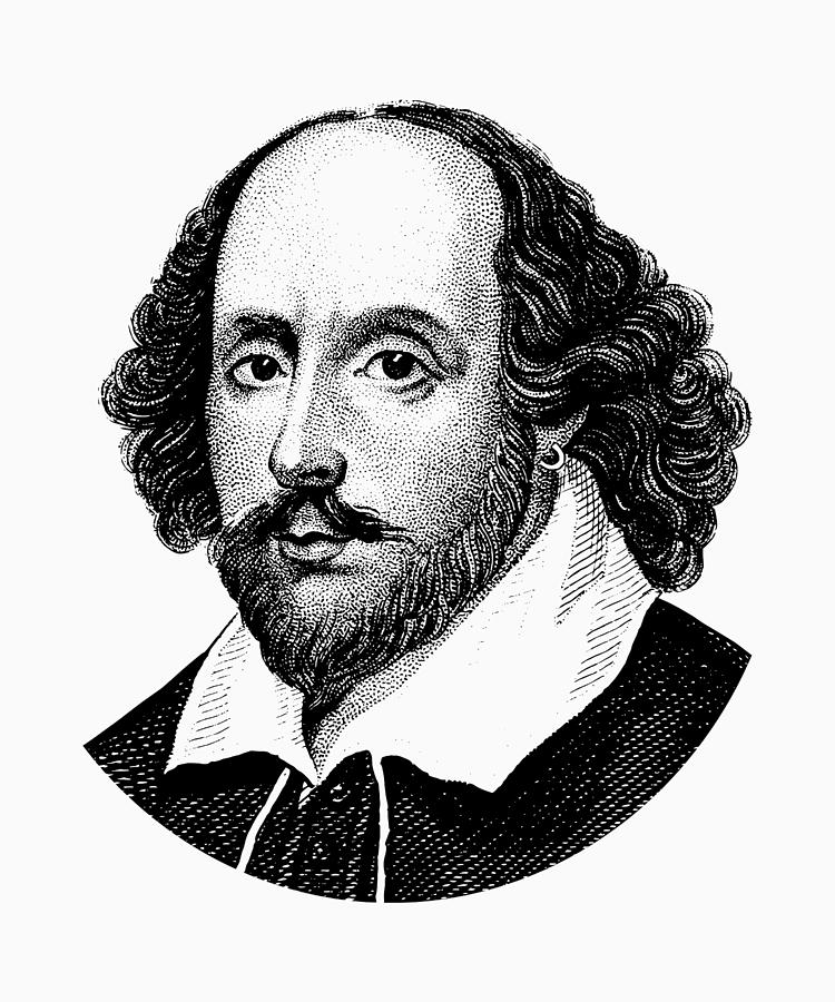 banner black and white stock William Shakespeare