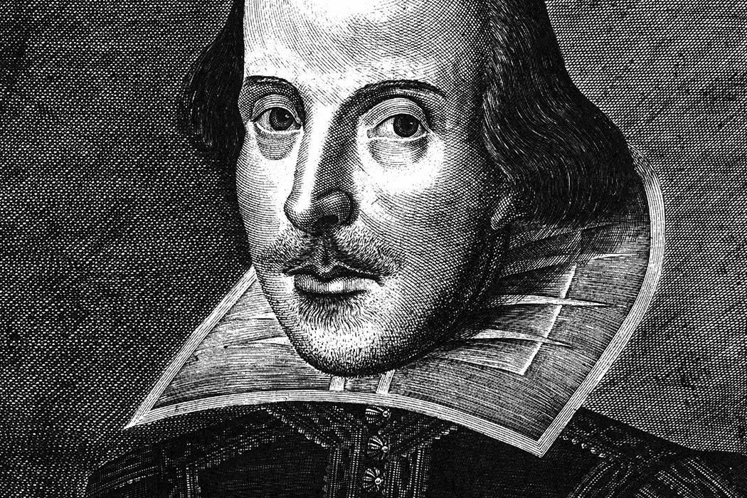picture black and white stock The Artist Behind Shakespeare