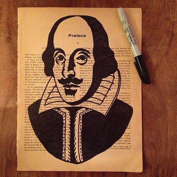 clip free stock Portrait of William Shakespeare Original Artwork by